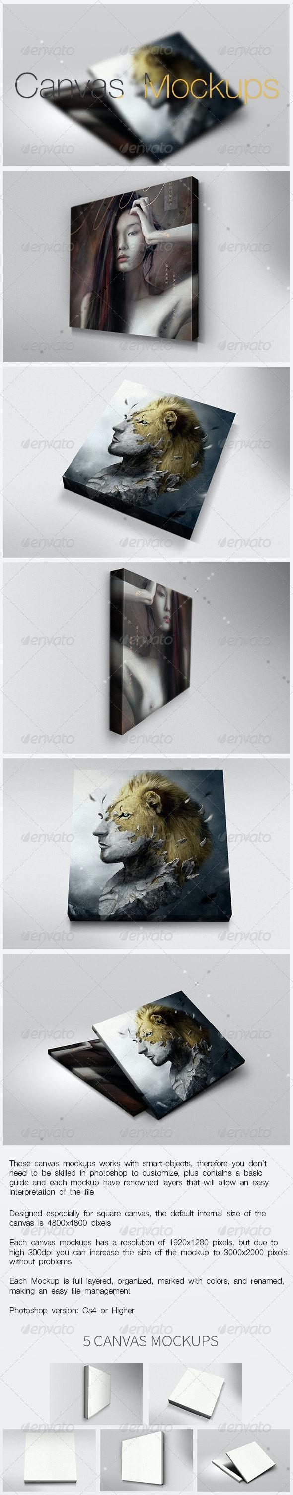 Canvas Mockups - Miscellaneous Displays