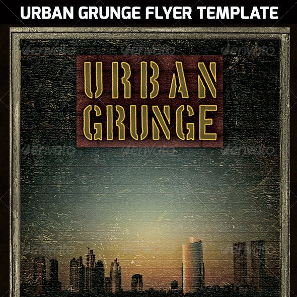 Urban Grunge Poster Flyer Template