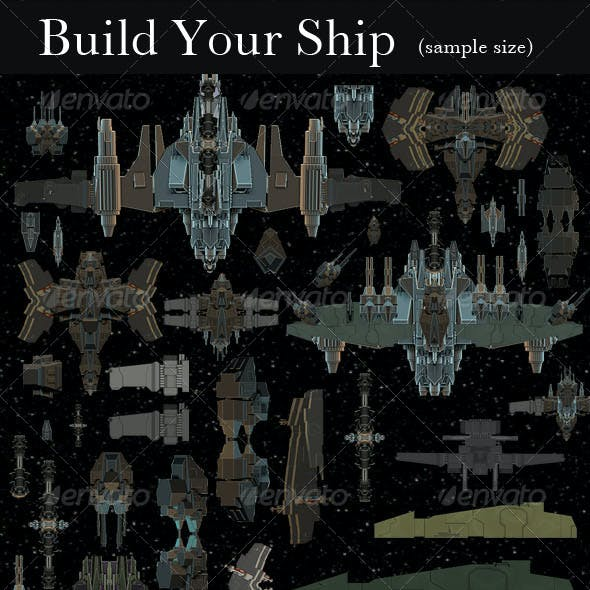 2D Ship Builder Pack #2