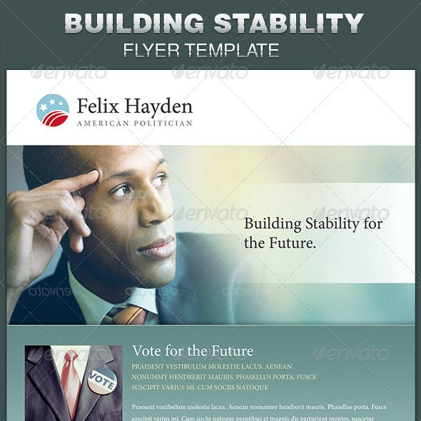Building Stability Political Flyer Template