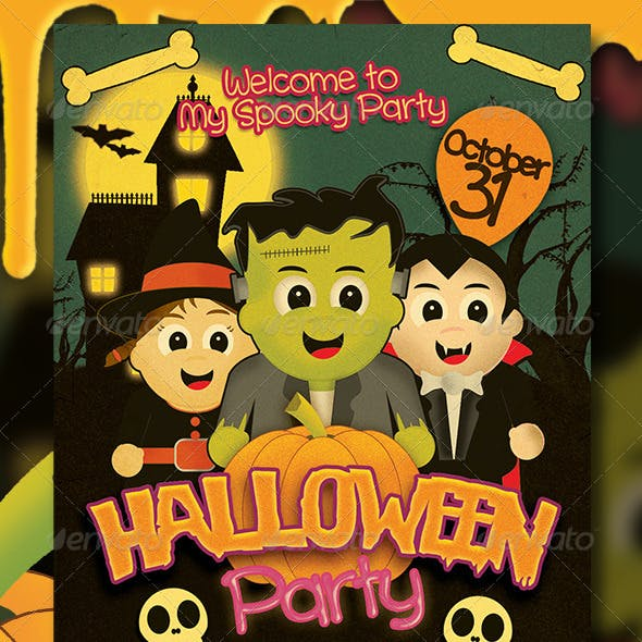 Halloween Kids Party Flyer