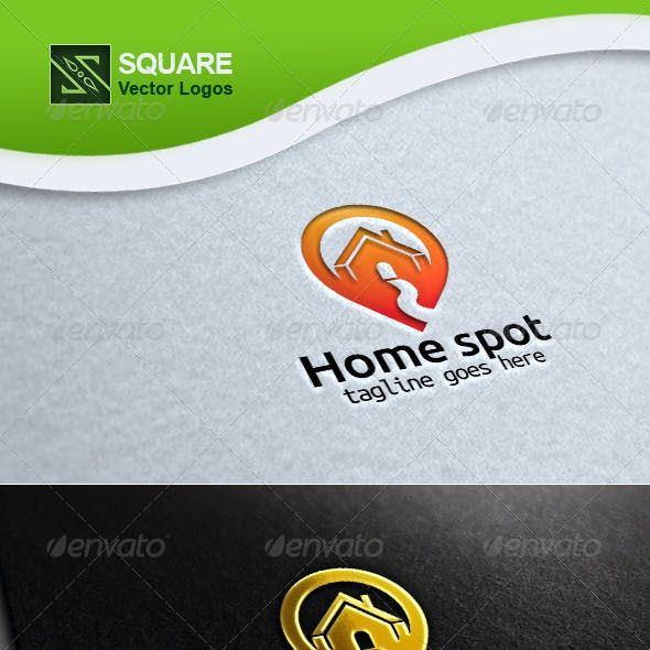 House, Locator Vector Logo Template