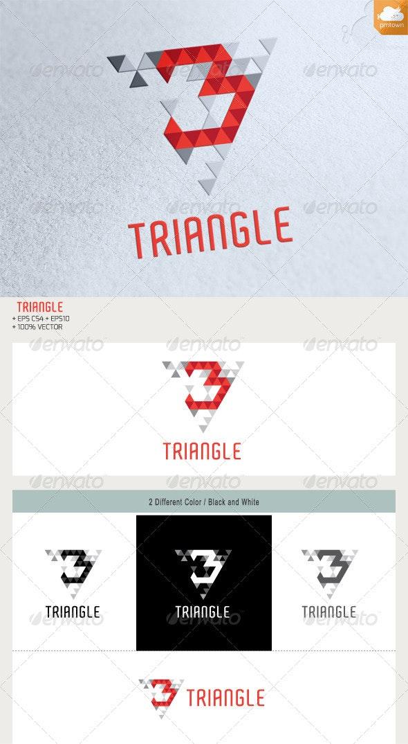 3 Triangke Logo - Numbers Logo Templates