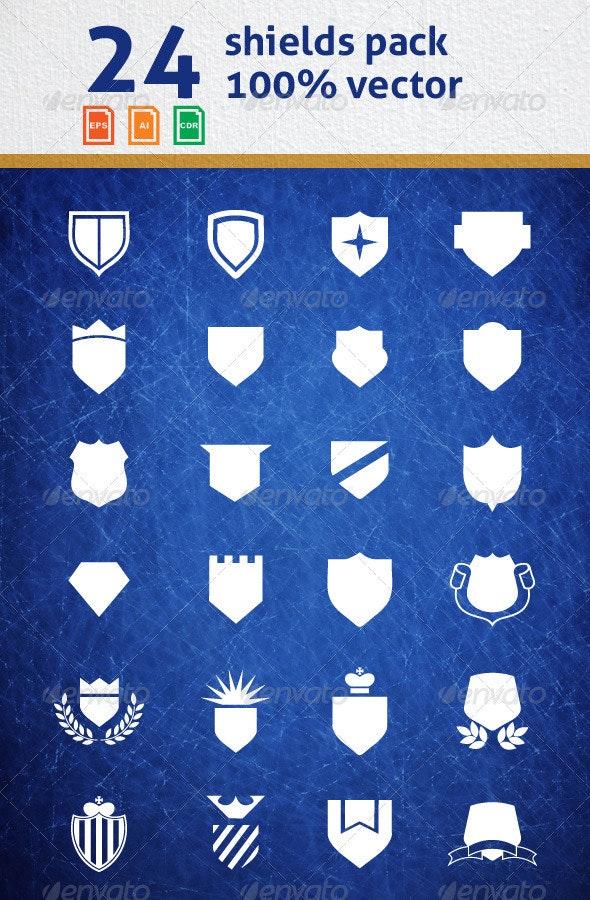 Shields Vector Pack - Decorative Symbols Decorative