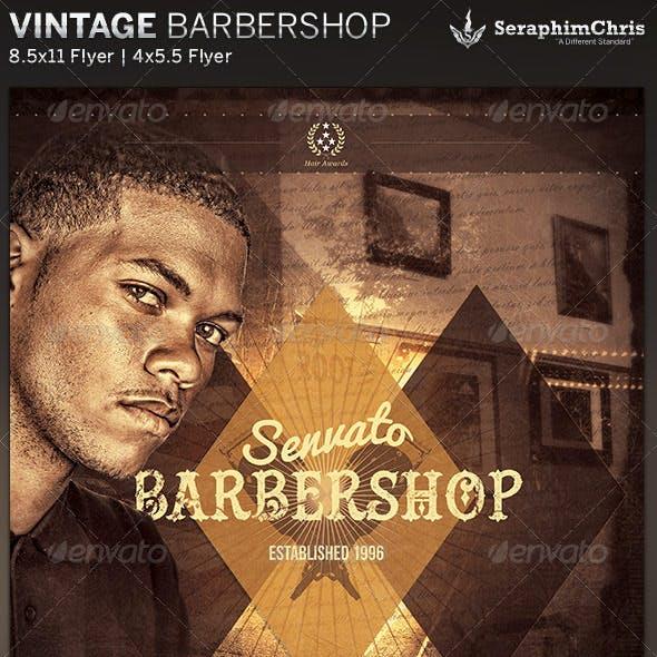 Vintage Barbershop Flyer Template