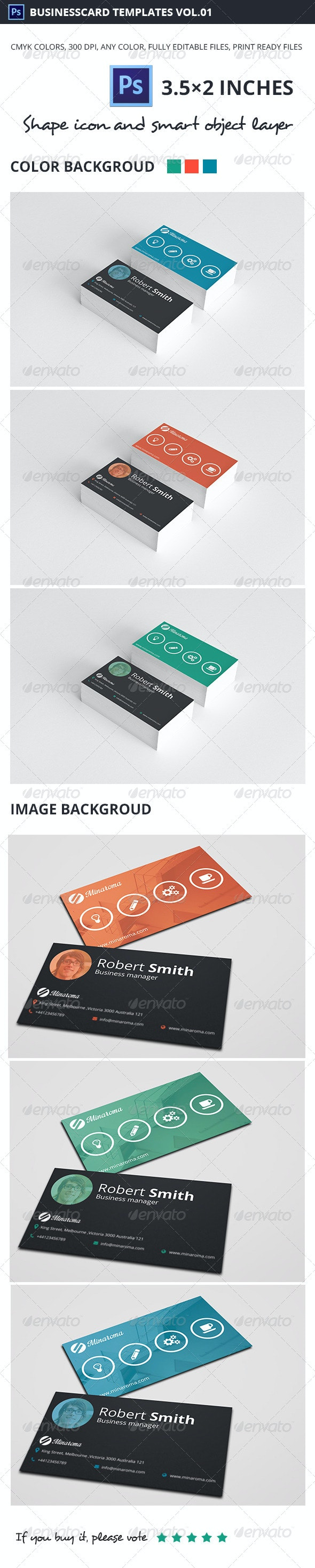 Business Card Template Vol.01 - Corporate Business Cards