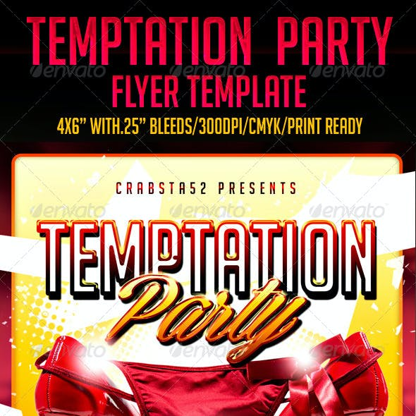 Temptation Party Flyer Template