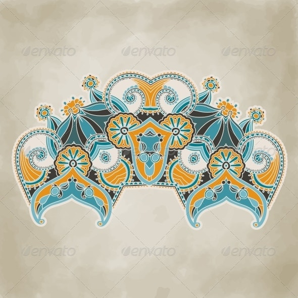 Vintage Ornamental Floral Template - Flourishes / Swirls Decorative