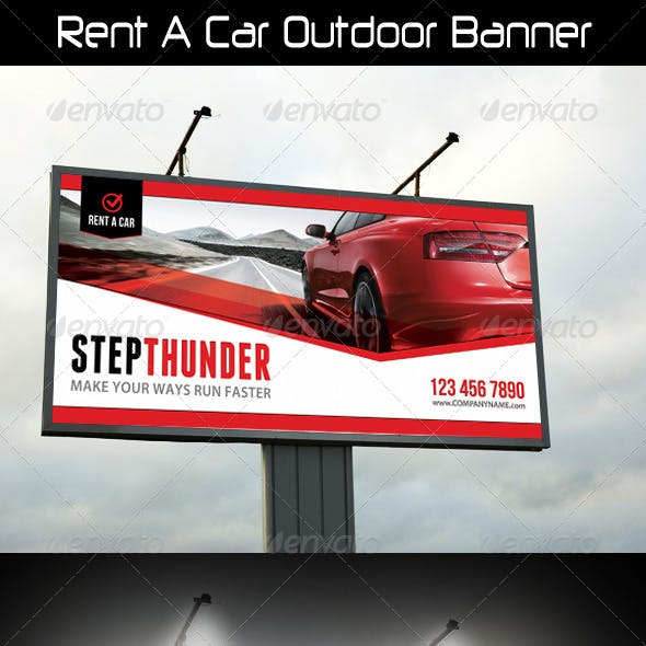 Rent A Car Outdoor Banner