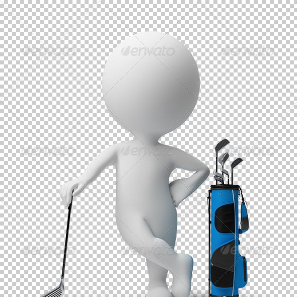 3d small people - golf