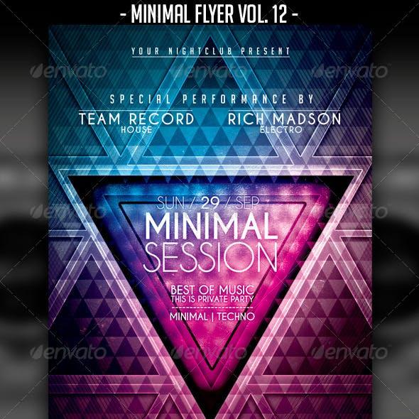 Minimal Flyer Vol. 12