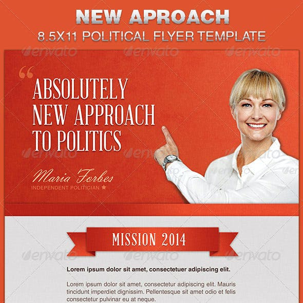 New Approach Political Flyer Template