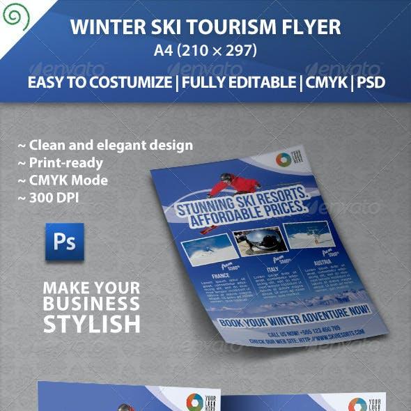 Winter Ski Tourism Flyer