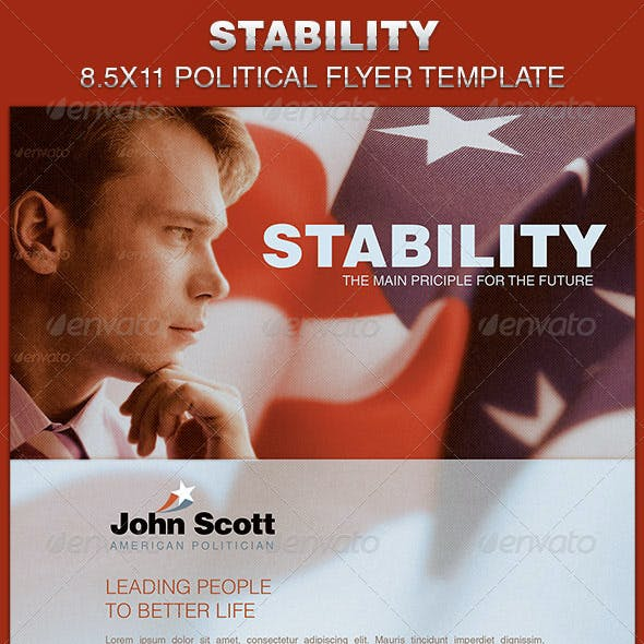 Stability Political Flyer Template