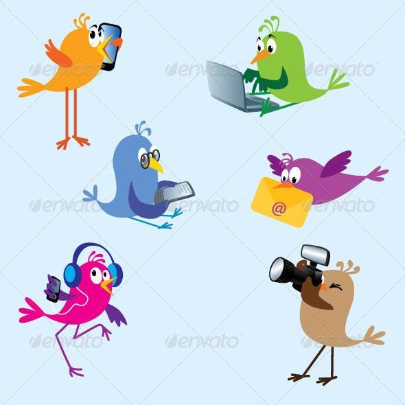 Birds - Set 2: Digital Devices
