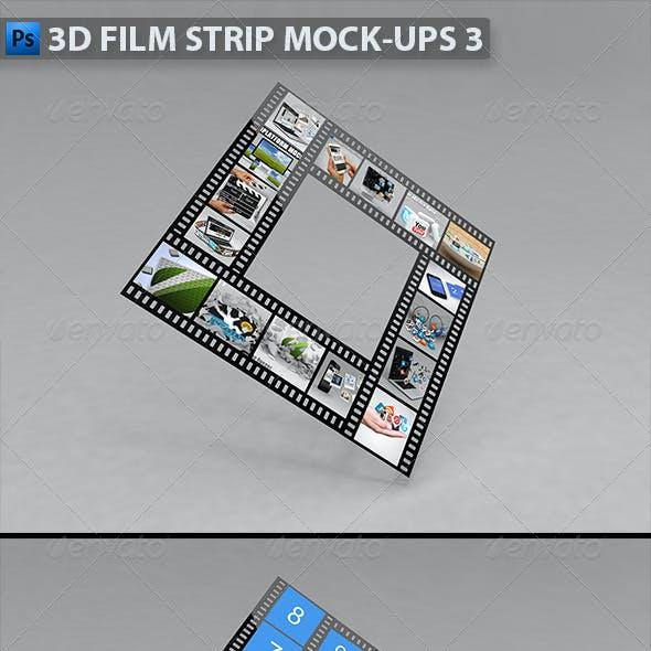 3D Film Strip Mock-ups 3