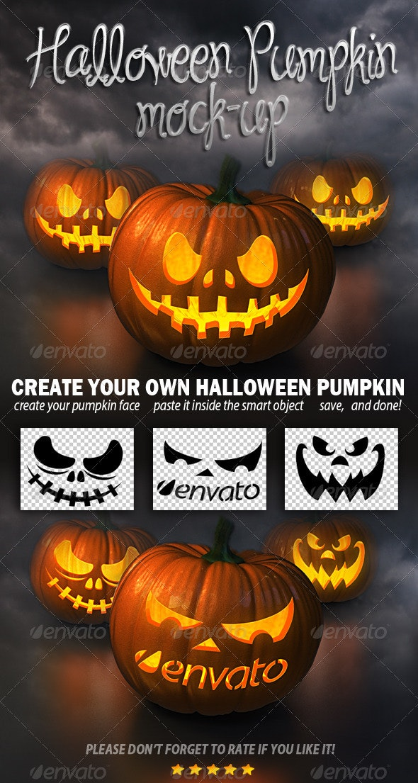 Halloween Pumpkin Mockup - Miscellaneous Print