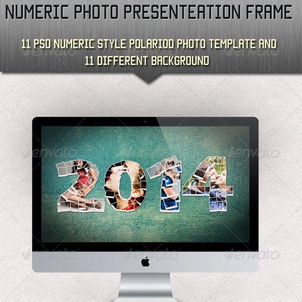 Numeric Photo Presentation Template