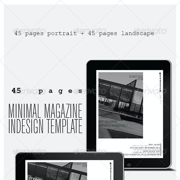 40 Pages Minimal Magazine For Tablet