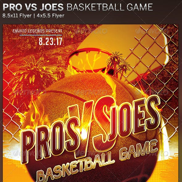 Pros VS Joes: Basketball Flyer Template
