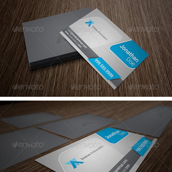Corporate Clean Business Card 5500