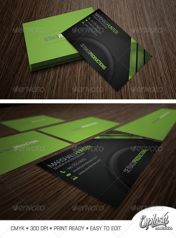 Photography Business Card 7500 - Industry Specific Business Cards