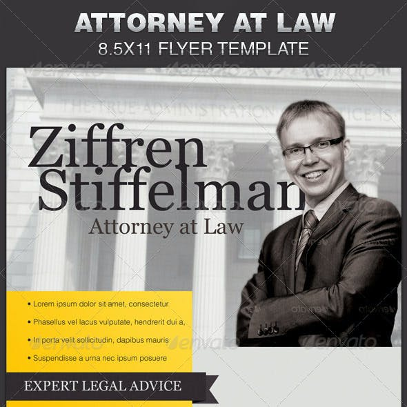 Attorney at Law Flyer Template