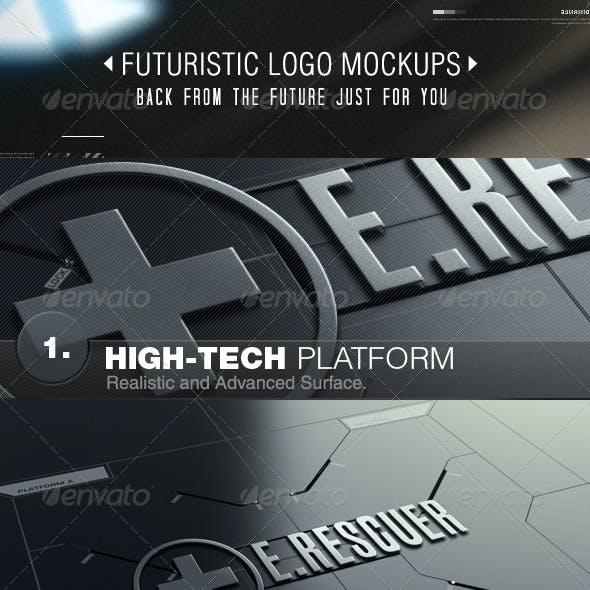Futuristic Logo Mockups