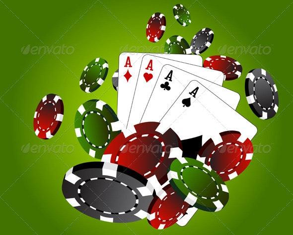 Four Aces Poker Chips - Miscellaneous Vectors