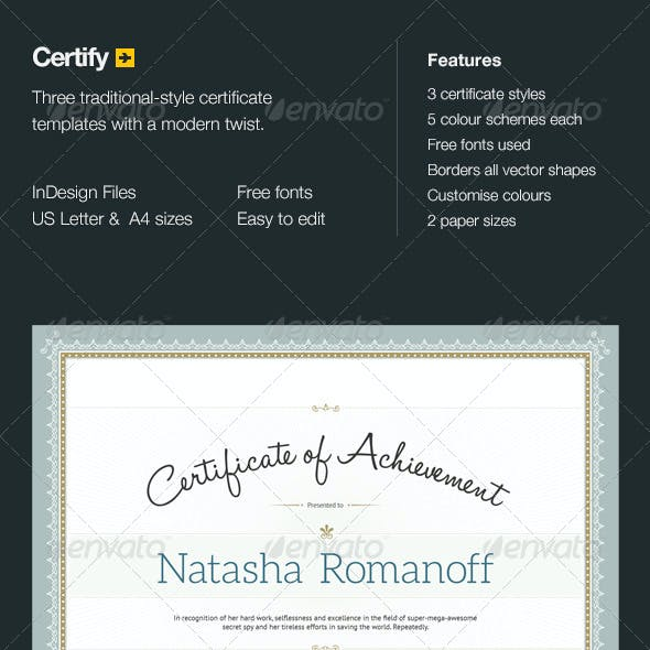 Certify - Award Certificates
