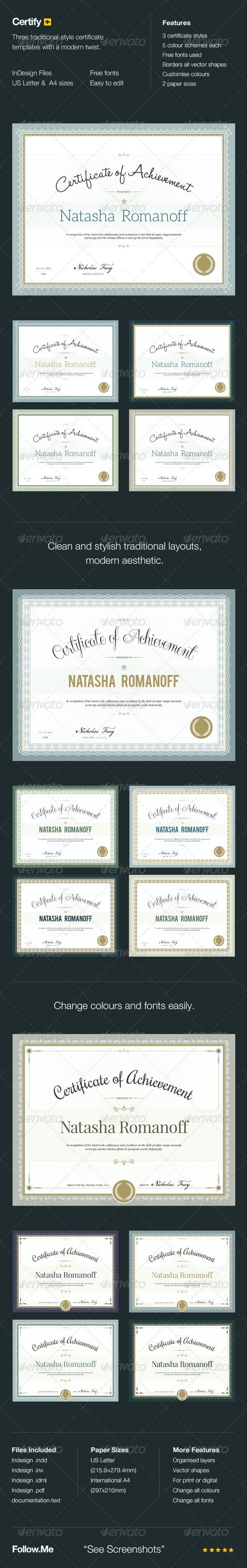 Certify - Award Certificates - Certificates Stationery