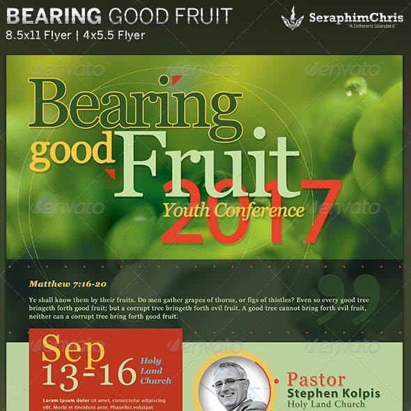 Bearing Good Fruit: Church Flyer Template