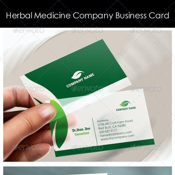 Herbal Medicine Company Business Card Templates