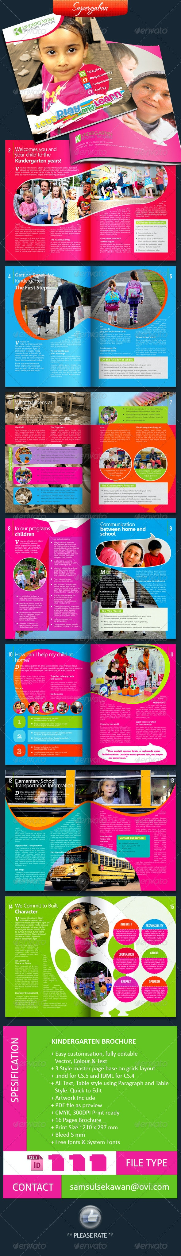 16 Pages Kindergarten Brochure - Informational Brochures