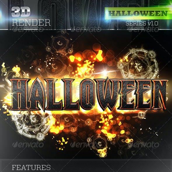 3D Halloween Text