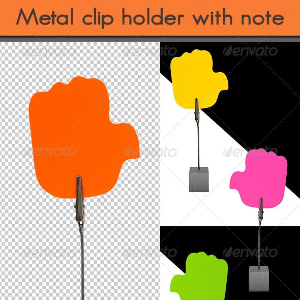 Metal Clip Holder with Memo Note