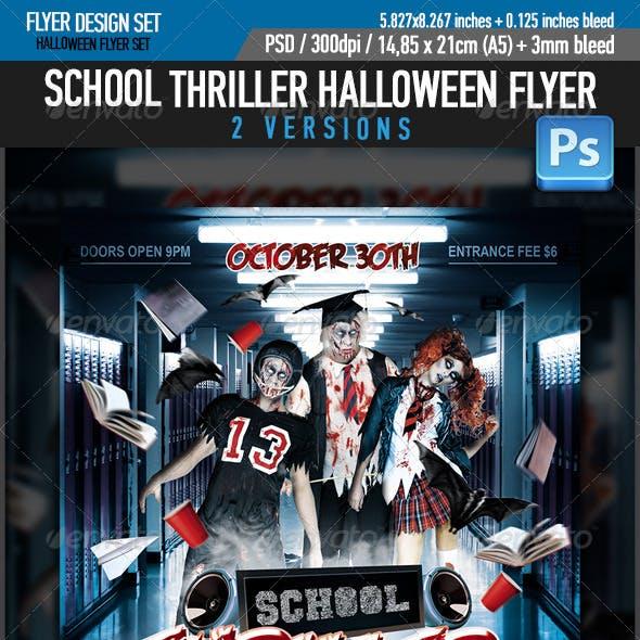 School Thriller Halloween Flyer Template