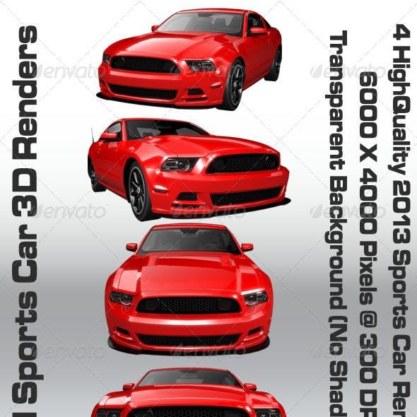 2013 Red Sport Car Renders
