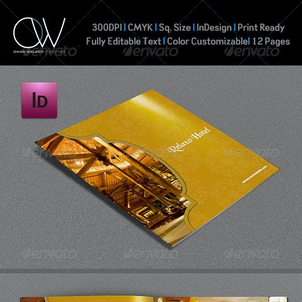 Hotel and Motel Brochure Template - 12 Pages