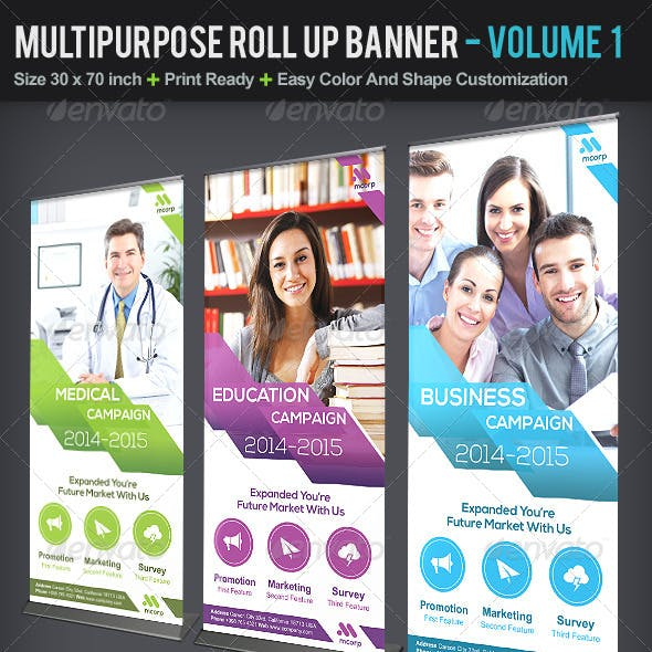 Multipurpose Roll Up Banner | Volume 1
