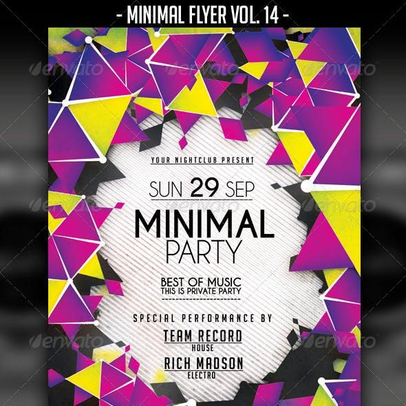 Minimal Flyer Vol. 14