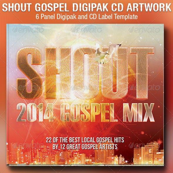 Shout Gospel 6 Panel Digipak CD Artwork Template