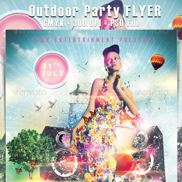 Outdoor Party Flyer