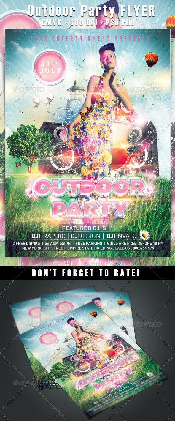Outdoor Party Flyer - Clubs & Parties Events
