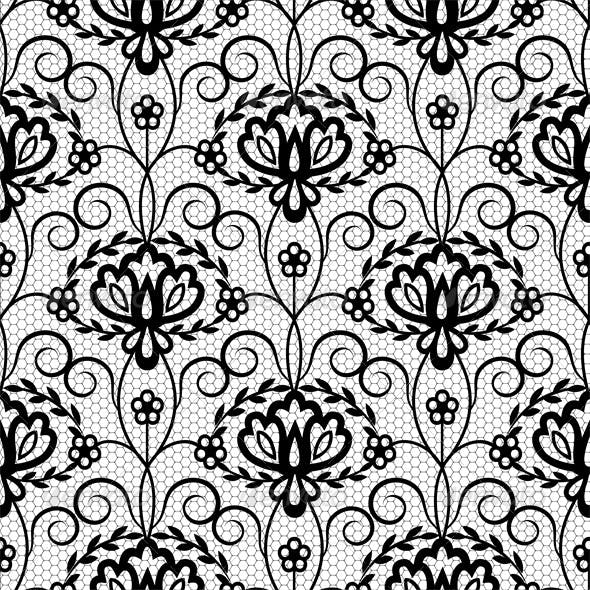 Seamless Lace Floral Pattern
