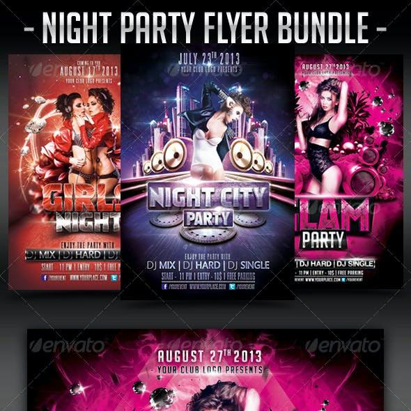 Night Party Flyer Bundle