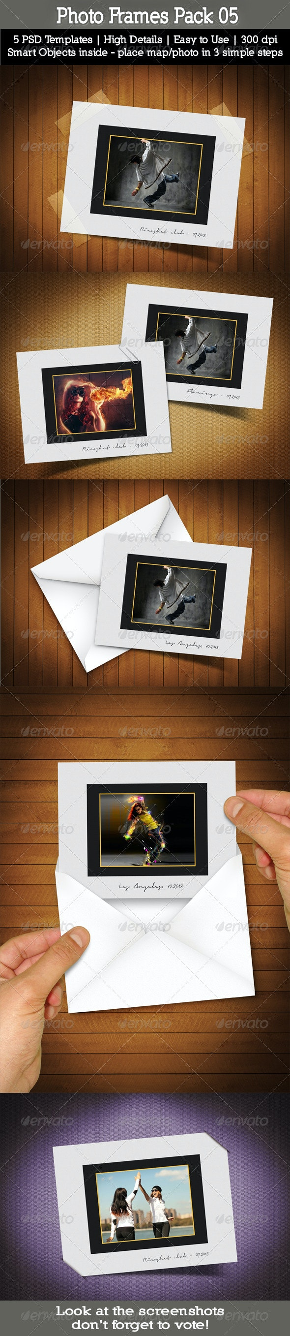 Photo Frames Pack 05 - Artistic Photo Templates