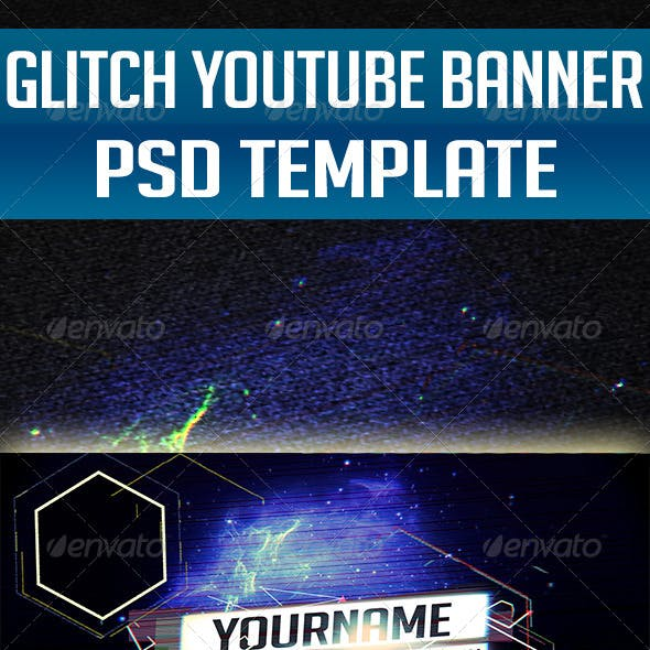 Glitch - YouTube One Channel Design Banner