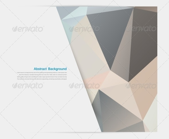Vector Abstract Background Polygonal Pattern  - Web Elements Vectors