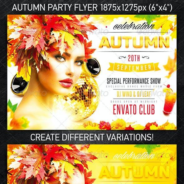 Autumn Celebration Party Flyer